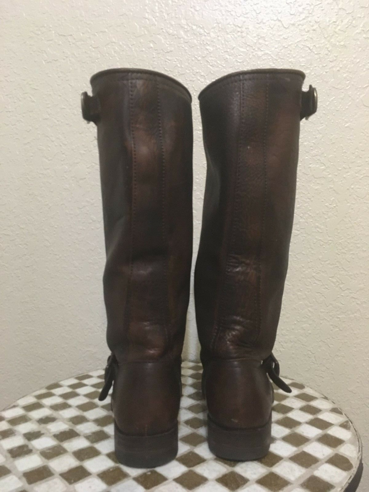 BROWN BROWN BROWN FRYE LEATHER WORK CHORE RIDING BOOTS 7 M 0c78ba