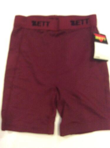 Zett Youth Large Maroon Compression Shorts Sliding Shorts