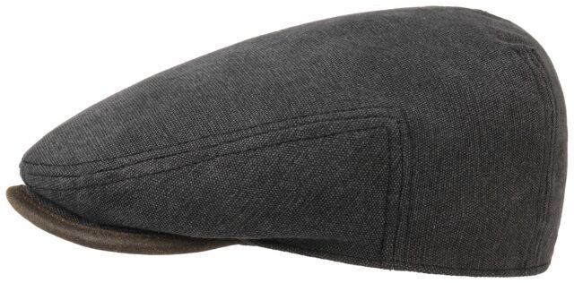 4d9c4ea6e98 Stetson Sun Guard Flatcap Cap Cap Driver Canvas 1 Black Trendy 63 Cm ...