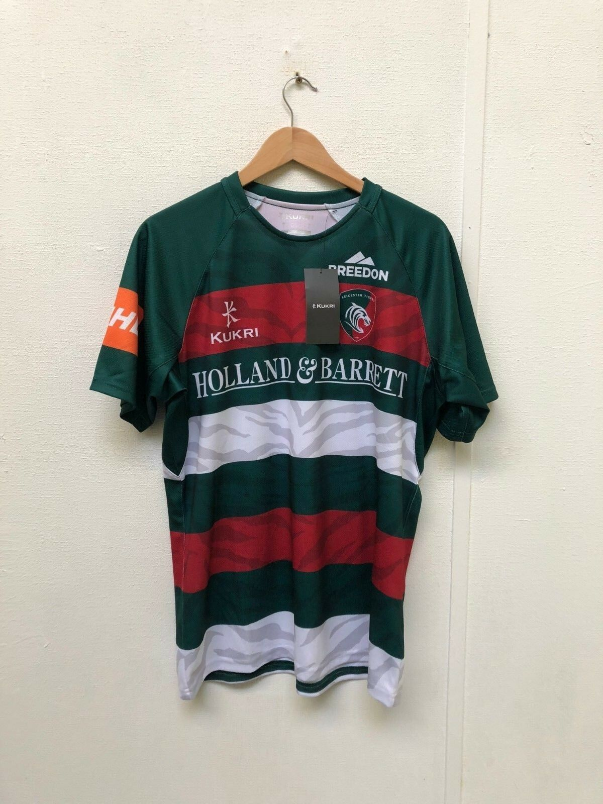 e99d0b02 Leicester Tigers Kukri Men's Rugby 2018 Home Jersey - Various Sizes - Green  -New