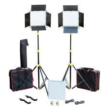 CAMTREE 2pcs.1000 White LED Studio Lights stand Kit Dimmer Control