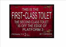 Railway Station Sign Reproduction British Rail Toilet Sign Vintage Rail Sign