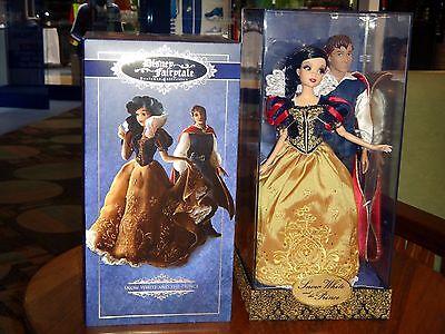 Disney Store ● Snow White & Prince Fairytale Designer Doll Limited Ed Dolls NIB!
