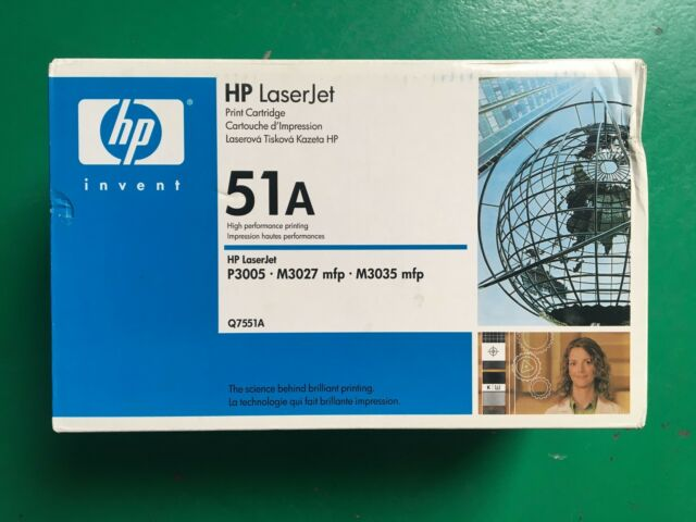 Vendo Cartuccia ORIGINALE HP LASERJET  P3005/M3027/M3035MFP (Q7551A)