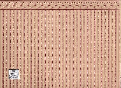 "/""Regency Green Stripe/"" miniature wallpaper Jackson/'s Miniatures dollhouse JM03"