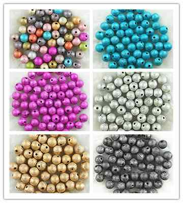 Wholesale 10000pcs 4mm Acrylic Pearl Round Spacer Loose Beads Pink colour