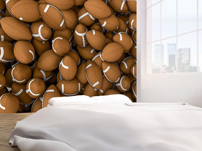 American footballs Rugby Balls 3D photo Wallpaper wall mural (44574803) 3D Balls