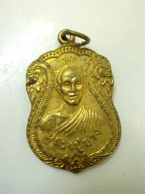 PHRA THAKRADAN LP RARE OLD THAI BUDDHA AMULET PENDANT MAGIC ANCIENT IDOL#1