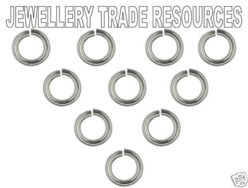 10x  STERLING SILVER JUMP RINGS 4mm Outside Diameter 0.7mm Ø Wire JEWELLERY