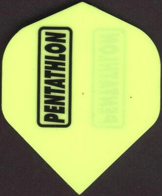 Neon Yellow PENTATHLON Dart Flights: 3 per set