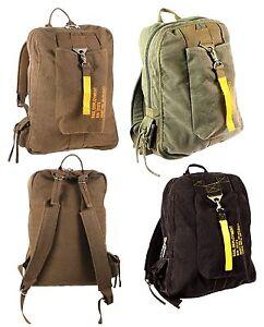 Image is loading Vintage-Canvas-Flight-Bags-Military-Aviator-Backpack -Knapsack- 716ccf5485c73