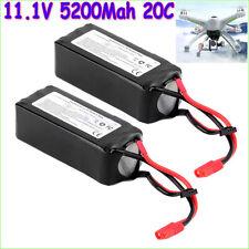 2x 11.1V 5200Mah 3S 30C Lipo Battery For Walkera QR X350 PRO RC Drone Quadcopter