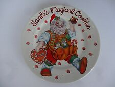 "Santa's Magical Cookies 7.5"" Plate Sakura Cheryl Ann Johnson"