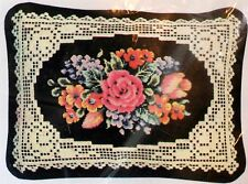 Victorian Lace Counted Cross Stitch Kit Wool Aida Cloth Ann Benson Floral Design
