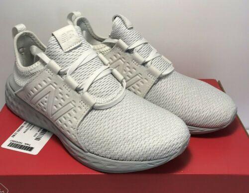 New Balance Mens Size 8.5 Fresh Foam Cruz Gum Running White Grey Shoes MCRUZNW