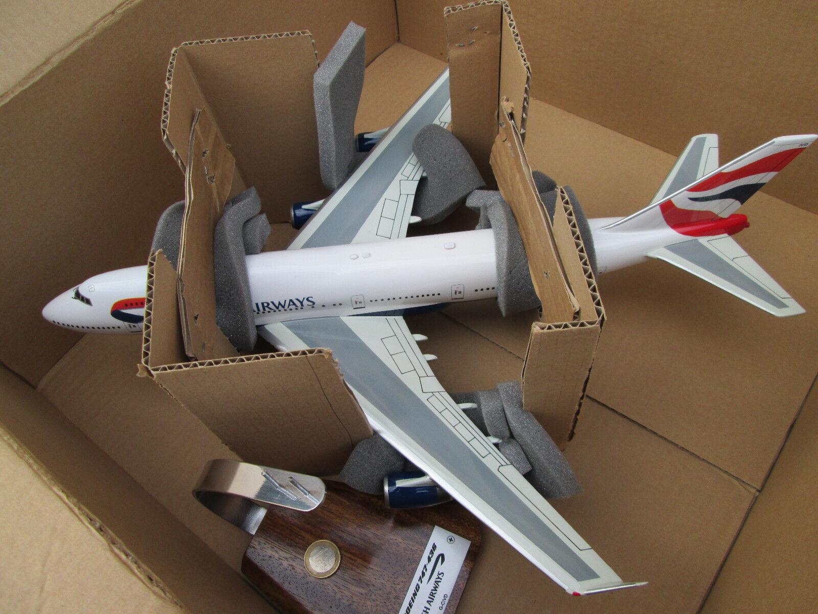 Boeing B 747 Jumbo Jet British Airways UK UK UK woodmodel ronds Aircraft yakair | être Dans L'utilisation  | être Nouvelle Dans La Conception  | Qualité Supérieure  4e07ae