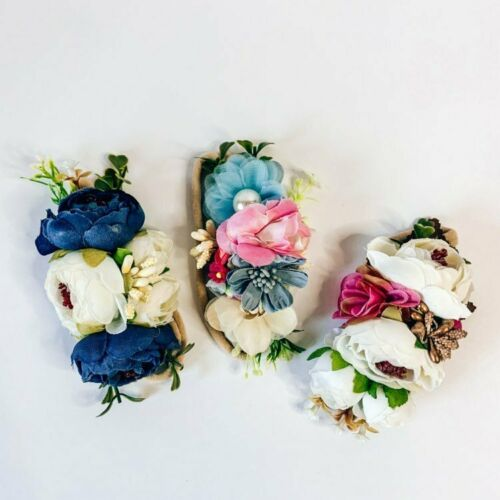 Details about  /Baby Flower Headbands Floral Hair Bows Elastic Bands For Newborn Girls Infant