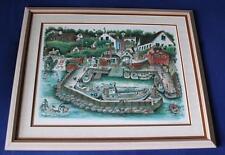 Art, Little Harbour Copenhagen, Demark, Plain Port, Ib Spang Olsen, Signed Print