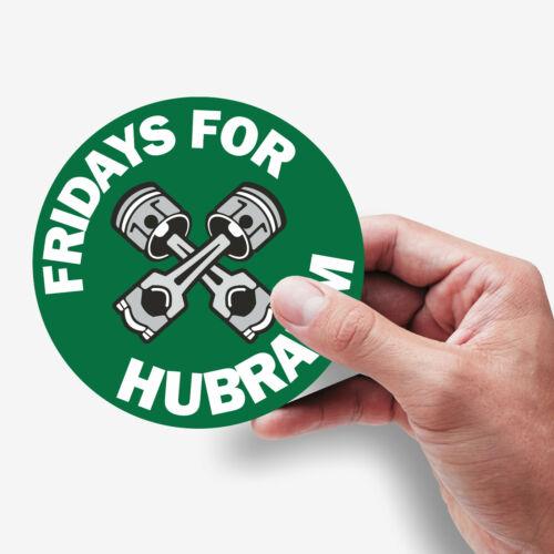 2x Aufkleber Fridays for Hubraum die Gegenbewegung zu FfF Fridays for Future