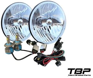 Details about 1966-1977 Bronco H4 LED Headlight Conversion w/Heavy on