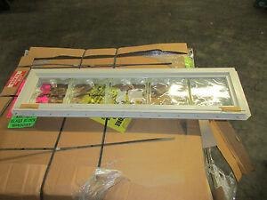 40 wide x 8 high crystalok vinyl window almond frame for Glass block window frame