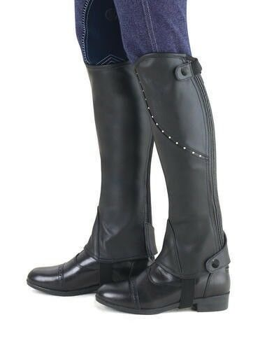 Ovation Ladies Turin Giana Leather Half Chaps with  Spanish Cut Top  buy cheap new
