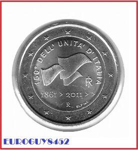 ITALIE - 2 € COM. 2011 UNC - 150e VERJAARDAG EENMAKING ITALIE