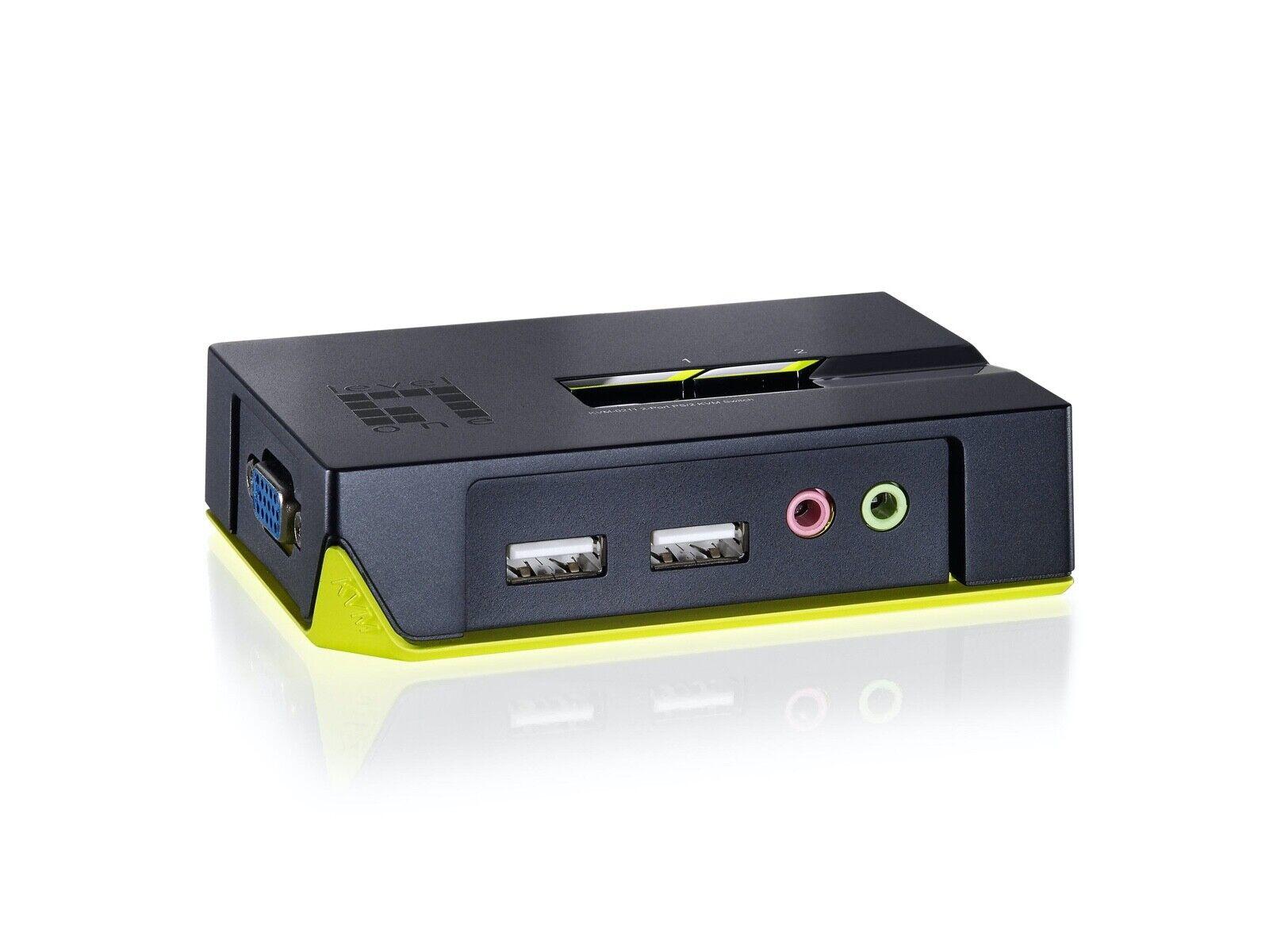 Level One KVM Switch 2 Port USB KVM Switch w/ Audio