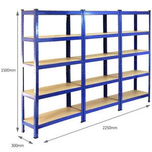Estandar-de-5-niveles-estante-grandes-Rack-de-almacenamiento-de-Bricolaje-Garaje