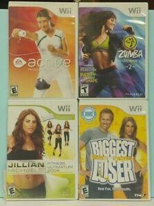 Biggest Loser, EA Active 1, Jillian 2009, Zumba Fitness Nintendo Wii / Wii U Lot