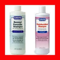Davis Benzoyl Peroxide Medicated Shampoo 12 Oz + Davis Ketohexidine Shampoo 12oz