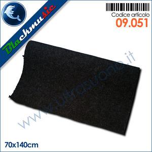 Moquette acustica liscia nero 70x140cm per interni, subwoofer e pianali