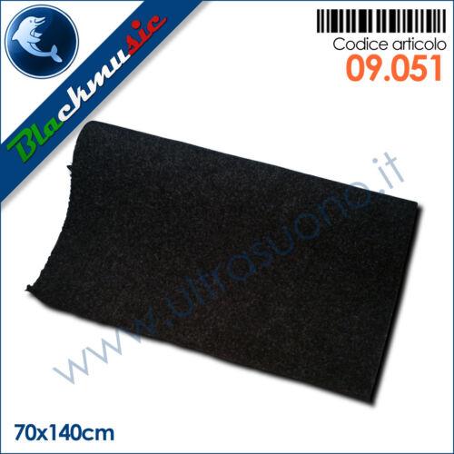 subwoofer e pianali Moquette acustica liscia nero 70x140cm per interni