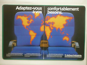 10/1985 PUB AIRBUS INDUSTRIE A300 A310 A320 AIRLINER AIRLINES ORIGINAL FRENCH AD
