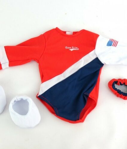 "3pc USA Gymnastic Outfit Made to Fit 18/"" American Girl Dolls Sports"
