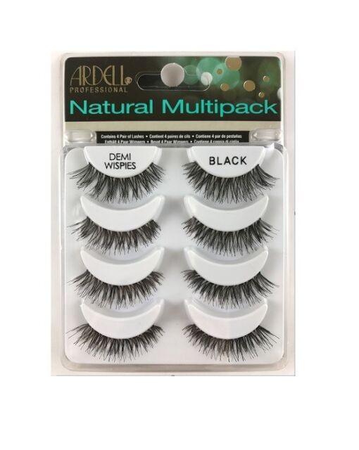 cfd8aa00942 Ardell NATURAL MULTIPACK DEMI WISPIES False Eyelashes Fake Lashes 61494 4  pairs