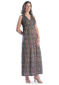 Japanese Weekend Tribal Print Maxi Maternity Nursing Dress Ebay