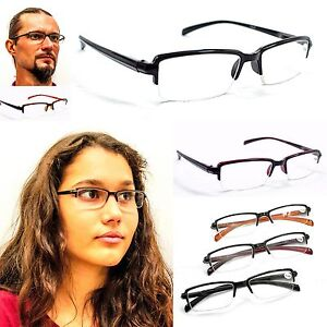 Spring-Hinged-Unisex-Half-Frame-Reading-Glasses-In-3-Colours-1-0-1-5-2-0-TN01