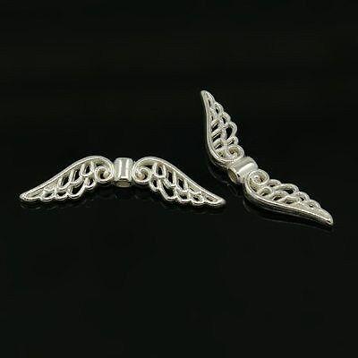 15 Stück Flügel Perlen 32x6mm Spacer Engel Schutzengel Neu 1190