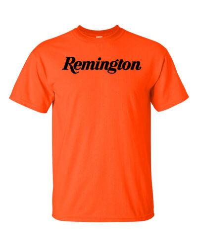 Remington Script Black Logo T-Shirt 2nd Amendment Pro Gun Brand Rifle Shotgun