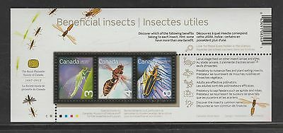 Canada 2012 Beneficial Insects Souvenir Sheet of 3 MNH #2409b