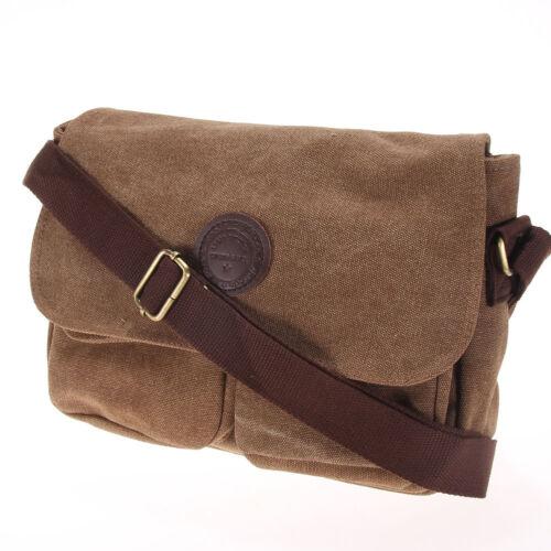 Fashion Men/'s Military Canvas Satchel School Book Laptop Shoulder Messenger Bag