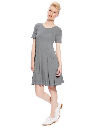Jersey Dress amp;s Swing British 12 Grey M Uk Sz New Best Of 4Rq1wXT
