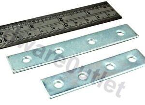 """4 x 5/"""" 125mm  BZP ZINC PLATED FLAT STRAIGHT MENDING PLATE STRETCHER BRACKET"""