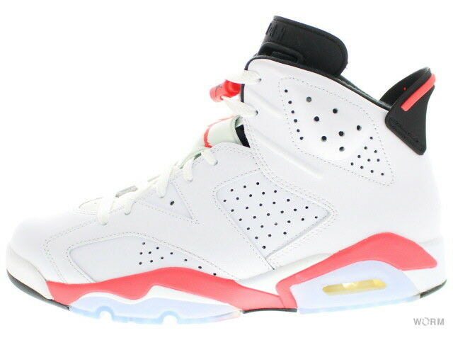 AIR JORDAN 6 RETRO  INFRARED 2014  384664-123 white infrared-black 6 Size 12