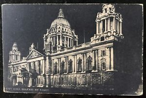 City-Hall-by-Night-Belfast-Postcard-Co-Antrim-Northern-Ireland