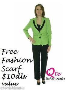 Qco Giacca Citrine Dress New Black cintura Colorblock Le Suit 4p con bavero Pants 1q7AAX