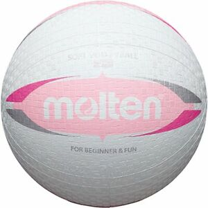 Molten Softball s2v1550-wp Soft Volley Blanc Rose