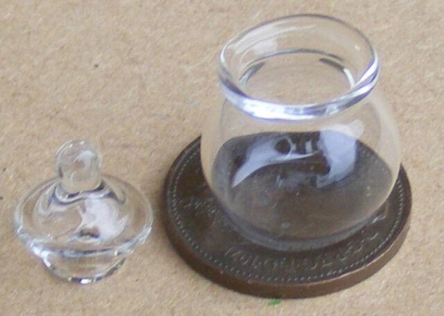 1:12 Round Glass Storage Jar Dolls House Miniature Kitchen Accessory BW 2