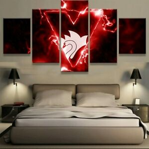 5 Pcs NRL Sydney Roosters Football Club Print Canvas Picture Wall Art Home Decor
